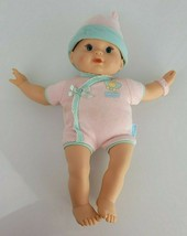 Fisher Price 2008 Blonde Blue Baby Girl Doll Vinyl Cloth Pink Butterfly Hat Cap - $34.64