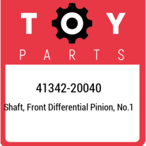 41342-20040 Toyota Shaft, front differential pinion, no.1 4134220040, Ne... - $14.95