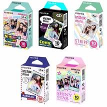 Glass, Comic, Stripe, Airmail, Shiny Star FujiFilm Instax Mini Film 50 P... - $43.99