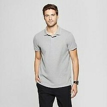 Men's Standard Fit Short Sleeve Loring Polo T-shirts - Goodfellow & Co Gray 2xl
