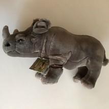 Webkinz Signature Black African Rhinoceros Endangered Species Gray WKSE3... - $2,985.00