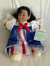 """Be'an Angel Collectible """"Honor"""" Black Hair Angel Doll, 1999 NWT Red Whit... - $17.81"""