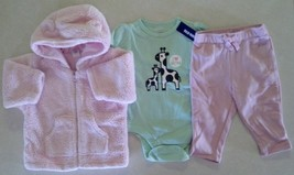 Girl's Sz 3-6 M Month 3 Pc Outfit Pink Baby Gap Jacket, Pants & NWT Old ... - $20.00