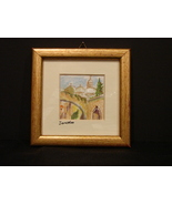 Original Miniature Watercolor Jerusalem Via Dolorosa (Second Station)  F... - $4.99