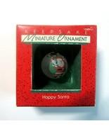 Vintage 1988 Hallmark Happy Santa Mini Glass Ball Christmas Ornament No ... - $10.50