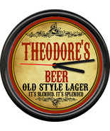 Theodore Theodore's Beer Ale Brewing Tavern Man Cave Retro Bar Sign Wall... - $21.12