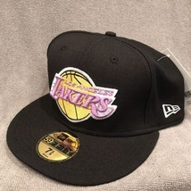 Los Angeles LA Lakers Hat NEW ERA 7-5/8 Fitted NBA 59FIFTY Hardwood Clas... - $282,59 MXN