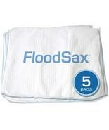"""FloodSax Sandless Sandbag, Water Absorbent Flood Barrier, 19"""" x 20"""", Pack of 5 - $74.79"""