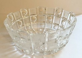 Vintage Decorative Crystal/Glass Bowl. Textured Dots Design. Serving & D... - $19.99