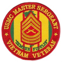 USMC Master Sergeant Vietnam Veteran Patch - $9.89
