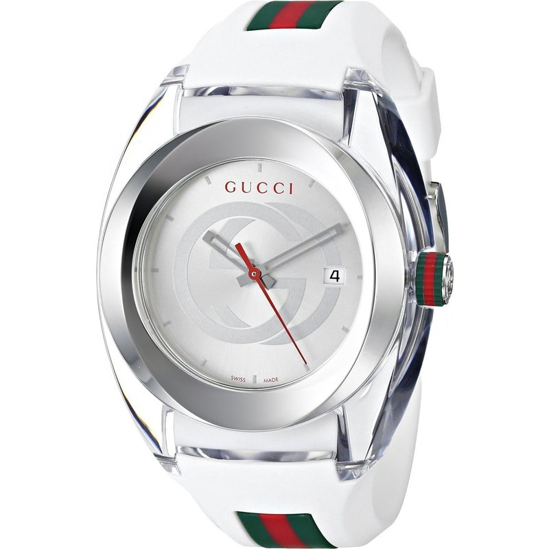 e5020ae05c1 Gucci White Sync Xxl Rubber Dial Watch and 50 similar items