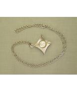 Vintage Ladies Pendant Watch Roland wind up 17 Jewels silver mid century... - $42.75