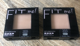 (2) Maybelline Fit Me! Pressed Powder Pressed Powder #355 Coconut - $9.46