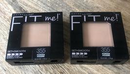 (2) Maybelline Fit Me! Pressed Powder Pressed Powder #355 Coconut - $9.46