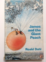 JAMES AND THE GIANT PEACH - ROALD DAHL (UK PUFFIN PAPERBACK, 1987) - £1.02 GBP