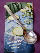"Holmes Edwards Sugar Spoon Youth Pattern Inlaid Silverplate 6"" - $18.32"