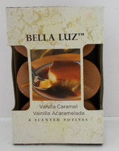 Vanilla Caramel Scented Candles 6 Per Pack Bella Luz Candle-Lite 1 Wick ... - $14.84