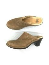 Sofft size 7.5m studded clogs slide on studded design heels leather - $99.00