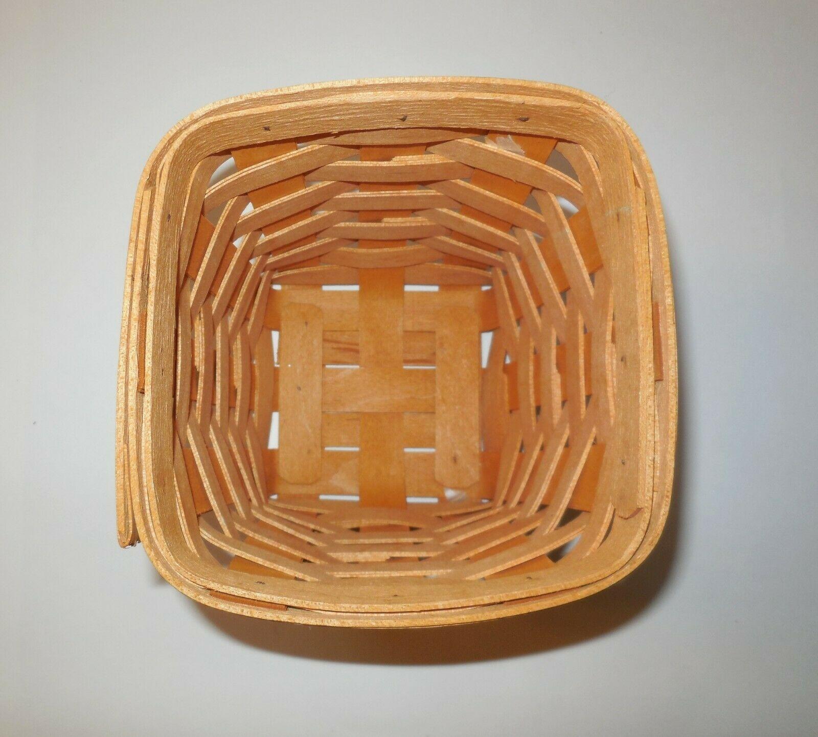 "Longaberger 6"" Spoon Basket 1999 image 10"