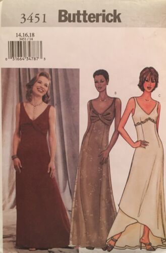 Primary image for Butterick  Misses' Evening/Formal Gowns 3 Versions Pattern 3451 Size 14-18 UC/FF