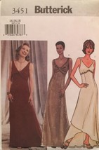Butterick  Misses' Evening/Formal Gowns 3 Versions Pattern 3451 Size 14-... - $9.90