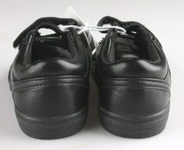 Cat & Jack Toddler Boys' Huxley Black Faux Leather Sneaker Shoes 6 US NWT image 4