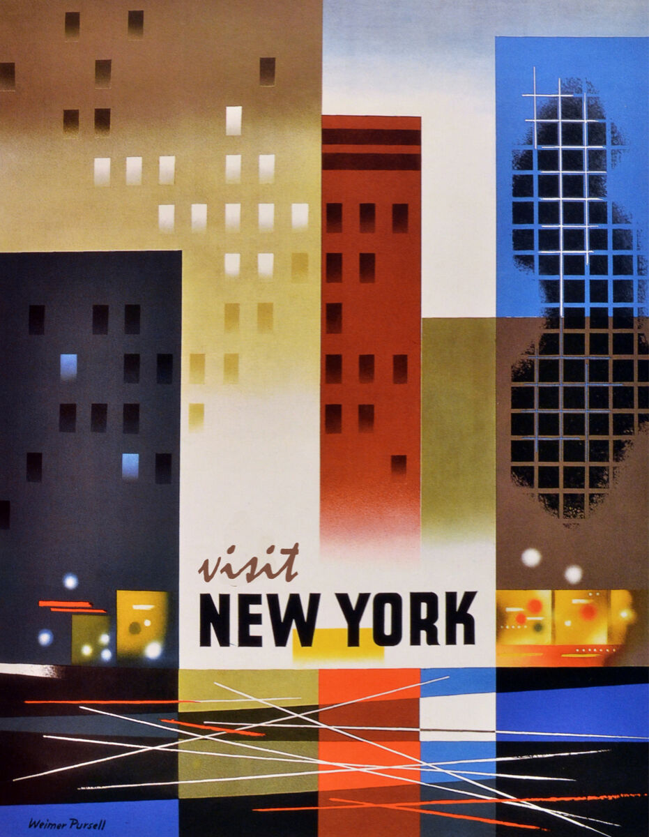 "Primary image for 20x30""Travel Poster on Canvas.Home Room Interior design.Visit New York.6615"