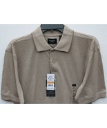 Haggar Mens W2W Work to Weekend Truffle Brown S Small Short Sleeve Knit ... - $29.98