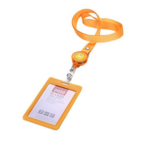 Primary image for Set of 5 ID/Credit Card Case Library Card Holder, Orange