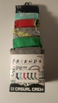 friends tv show mens casual crew socks fits shoe size 8 12 new 6 pairs p... - $23.95