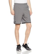 Under Armour Men's Qualifier Printed Shorts, Graphite/Black, XX-Large