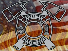 American Firefighter Style2 Vinyl Decal Sticker Graphic company rescue hero - $6.03
