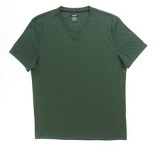NEW ALFANI MILITARY GREEN STRETCH SOFT COTTON BLEND CASUAL V-NECK T-SHIR... - $10.39