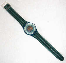 SWATCH Stop SSB100 Jess' Rush 1993 Swiss Made Wristwatch Rubber Strap Vintage image 9