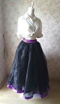 Fuchsia and Golden Tulle Long skirt Tulle Mesh Princess Skirt, Ballet Skirt NWT image 9