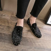 Loafers Men Leather Genuine Brand Moccasins Luxury Italian Merkmak Rivet Fashion U5nW1qBBH
