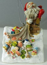 Rooftop Santas Oh! Oh! Comic Christmas Ornament D R Laird 2002 Reco 4634... - $8.27