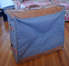 "Vintage Luggage Hartmann Tweed Leather Rolling Hanging Garment Bag 23"" x... - $1.805,91 MXN"