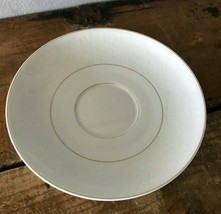 """1 - Rosenthal Continental Germany White Velvet Gold Trim Replacement Saucer 6"""" - $7.36"""