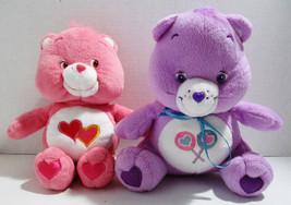 Share Bear & Love A Lot Bear 2 Care Bears Plush Stuffed Animals Fun Toys... - $20.10