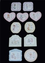 VTG Precious Moments Porcelain Inspirational Wall Plaque Varied Designs ... - $4.99