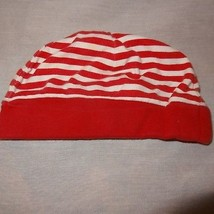 Hat Red White Christmas Baby Boy Girl Infant Skull Cap Size 3 to 6 Month... - $8.41