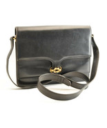 GUCCI Leather Shoulder Bag Black Auth sa2089 - $298.00