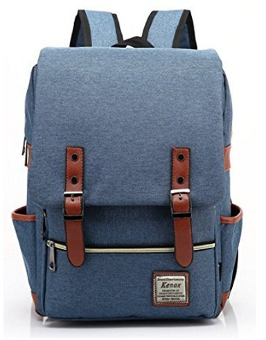 Backpack College School Bag Fits 15-inch Laptop with Kenox Vintage Laptop New