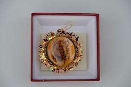 Vintage Goebel Hummel Apple Tree Girl 1988 24K gold Christmas Ornament - $24.74