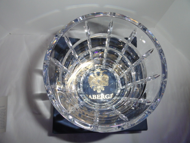 Faberge Metropolitan Clear Pattern Ice Bucket in the original box  image 4