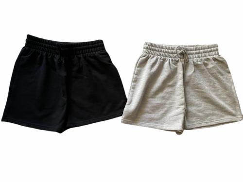 New Lot (2) Forever 21 Sweat Shorts Athletic Lounge Sleep Black White Sz S