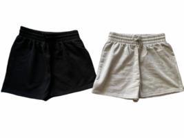 New Lot (2) Forever 21 Sweat Shorts Athletic Lounge Sleep Black White Sz S image 1