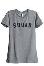 Thread Tank Squad Women's Relaxed T-Shirt Tee Heather Grey - $24.99+