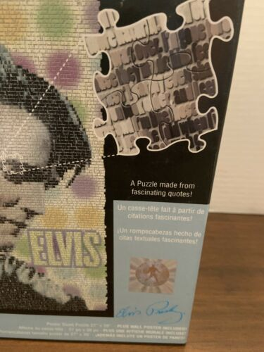 Elvis Presley Puzzle Made From Quotes 1000 Pcs Plus Wall Poster Quote O Graphs image 2